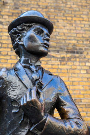 chaplin: A bronze statue of iconic movie star Charlie Chaplin, situated in Leicester Place (near Leicester Square) in London.