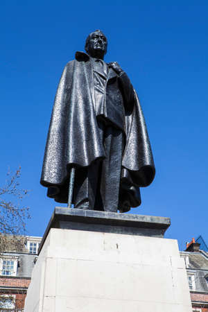 delano: A statue of Franklin D. Roosevelt (the 32nd President of the United States), situated in Grosvenor Square in London. Editorial