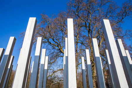memorial cross: The Memorial in Hyde Park in memory of the victims of the 7th July London Bombings.