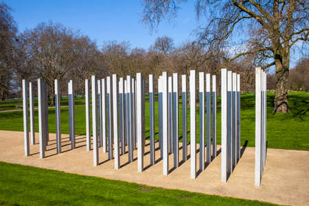 bombings: The Memorial in Hyde Park in memory of the victims of the 7th July London Bombings.