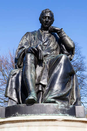 smallpox: A statue of famous doctor Edward Jenner, located in Kensington Gardens in London.
