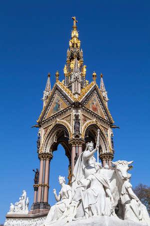 kensington: A view of the magnificent Albert Memorial in Kensington Gardens, London. Editorial