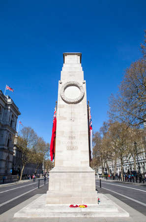 city of westminster: The historic Cenotaph War Memorial located on Whitehall in the City of Westminster, London.