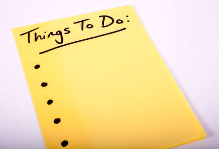 hectic life: Things to Do written on a piece of Note Paper. Stock Photo