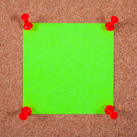attach: Blank Note Paper Pinned to a Noticeboard.