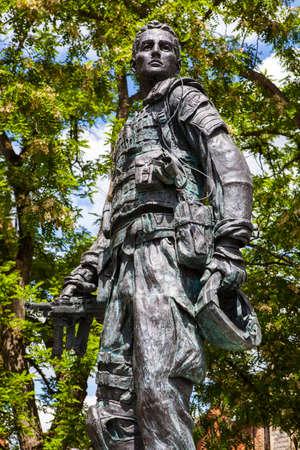 berkshire: A statue dedicated to all Irish Guardsmen, Past, Present and Future in Windsor, Berkshire. Editorial