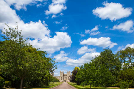 berkshire: View of the entrance to Windsor Castle in Berkshire, England.