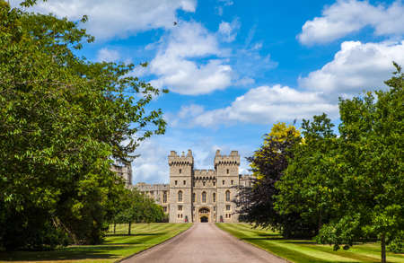 windsor: View of the entrance to Windsor Castle in Berkshire, England.