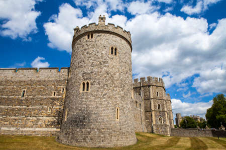 windsor: The historic Windsor Castle in Berkshire, England. Editorial
