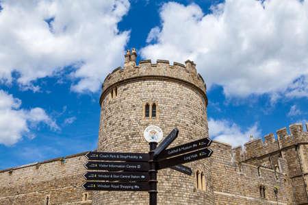 berkshire: The historic Windsor Castle in Berkshire, England. Editorial