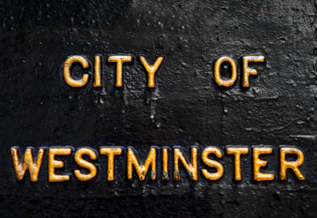 westminster: City of Westminster in gold lettering.