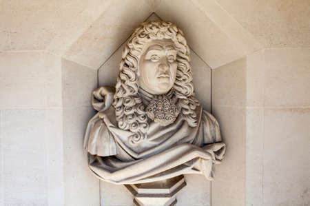 samuel: A sculpture of English naval administrator and Member of Parliament Samuel Pepys situated outside Guildhall Art Gallery in London.