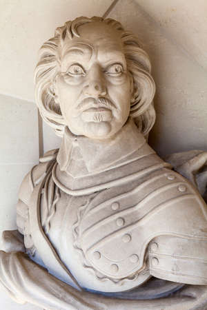 englishman: A sculpture of famous Englishman Oliver Cromwell situated outside Guildhall Art Gallery in London.