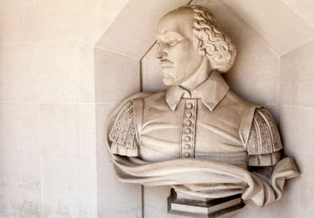 playwright: A sculpture of famous playwright William Shakespeare situated outside Guildhall Art Gallery in London. Editorial