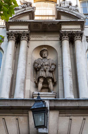 henry: The only statue of King Henry VIII on public display in London.  It is located above the King Henry VIII Gate at St. Bartholomews Hospital in London.