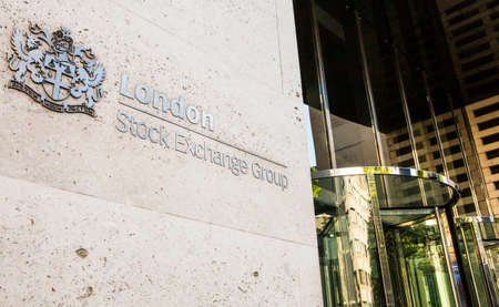 LONDON, UK - JUNE 7TH 2015: The London Stock Exchange located in the City of London, on 7th June 2015. Editorial