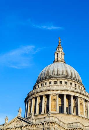 st pauls: The iconic sight of St. Pauls Cathedral in London. Editorial
