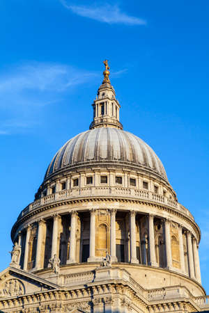 st   pauls cathedral: The dome of St. Pauls Cathedral in London. Editorial