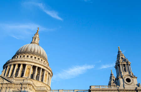 st pauls: The dome and towers of the iconic St. Pauls Cathedral in London. Editorial