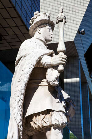vi: A statue of King Edward VI at St. Thomas' Hospital in London Stock Photo