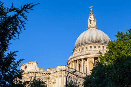 st pauls: A view of St. Pauls Cathedral in London.