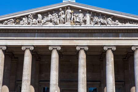 british museum: The magnificent exterior of the British Museum in London. Editorial