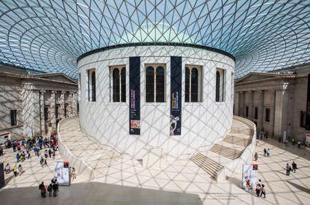 british museum: LONDON, UK - JUNE 30TH 2015: The magnificent Great Hall of the British Museum in London on 30th June 2015.