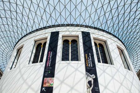 british museum: The magnificent interior of the British Museum in London. Editorial
