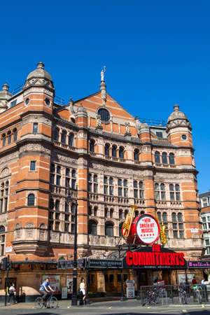 west end: LONDON, UK - JUNE 30TH 2015: The Palace Theatre in the West End of London on 30th June 2015.  It has been the location of many shows and is currently the location of The Commitments Musical.