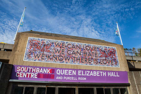 southbank: LONDON, UK - JULY 6TH 2015: A view of an entrance to The Southbank Centre in London, on 6th July 2015. Editorial