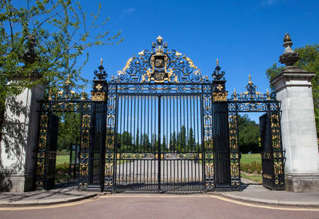 jubilee: The historic Jubilee Gates at Regent's Park in London.  The gates were installed to commemorate the Silver Jubilee of King George V.