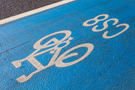 road cycling: A cycle Superhighway in central London. Stock Photo