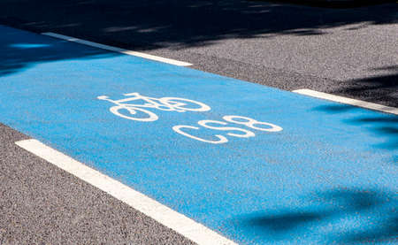 super highway: A cycle Superhighway in central London