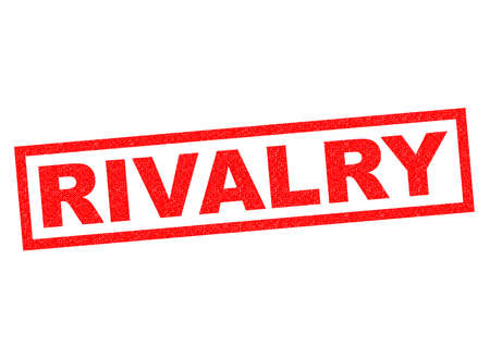 rivalry: RIVALRY red Rubber Stamp over a white background.