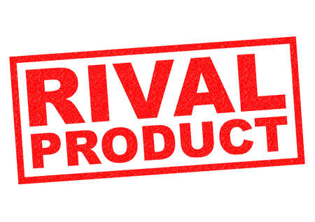 rival: RIVAL PRODUCT red Rubber Stamp over a white background.
