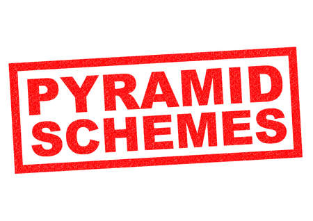 unsustainable: PYRAMID SCHEME red Rubber Stamp over a white background.
