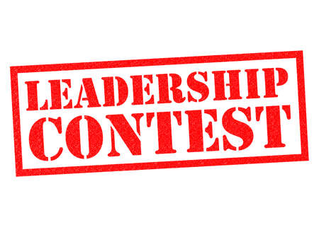 mp: LEADERSHIP CONTEST red Rubber Stamp over a white background.