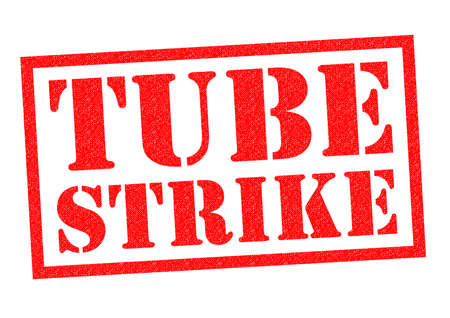 disrupt: TUBE STRIKE red Rubber Stamp over a white background.