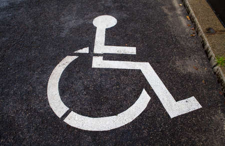 enforced: A Disabled Parking Space. Stock Photo