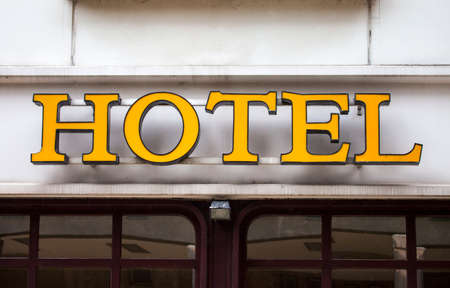 4 star: A Hotel Sign in a European city.
