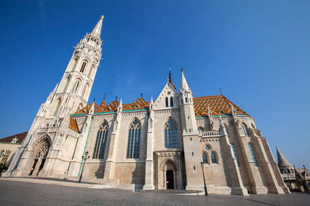 halaszbastya: The historic Matthias Church in Budapest, Hungary.