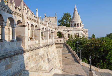 halaszbastya: The historic Fisherman's Bastion in Budapest, Hungary. Editoriali