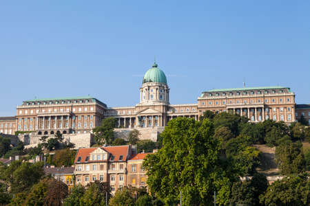 buda: A view of the magnificent Buda Castle in Budapest, Hungary. �ditoriale