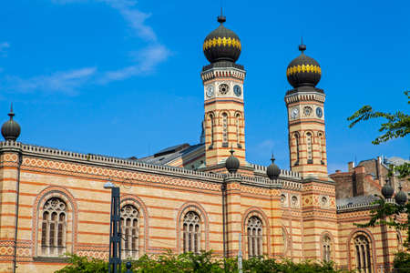and the magnificent: The magnificent Dohany Street Synagogue in Budapest, Hungary.