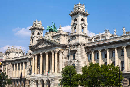 ethnography: The facade of the Neprajzi Museum in Budapest, Hungary.  The Neprajzi Museum is dedicated in Ethnography.