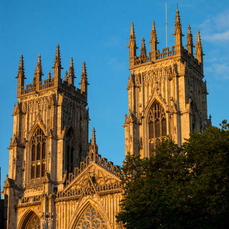 york minster: The towers of the historic York Minster in York, England. Stock Photo