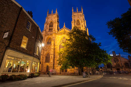 york minster: YORK, UK - AUGUST 29TH 2015: A view of the historic York Minster in York, on 29th August 2015. Editorial