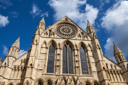 minster: Looking up at the historic York Minster in York, England.