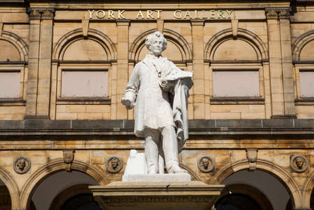 william: Statue of William Etty outside the York Art Gallery in York, England.