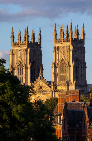 york minster: The magnificent York Minster in York, England.